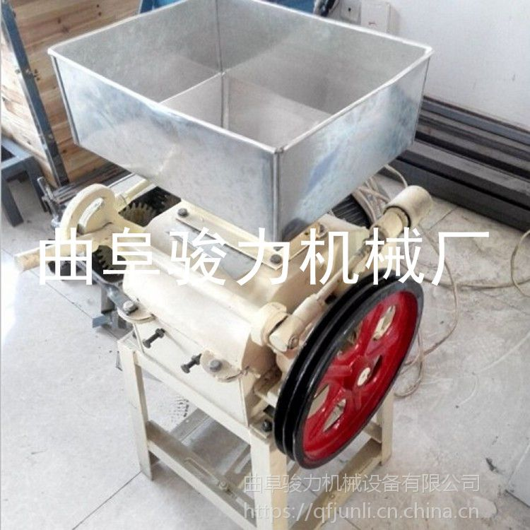 直销 米类豆子挤扁机 全自动压辊粮食挤扁机 家用轧扁机 骏力