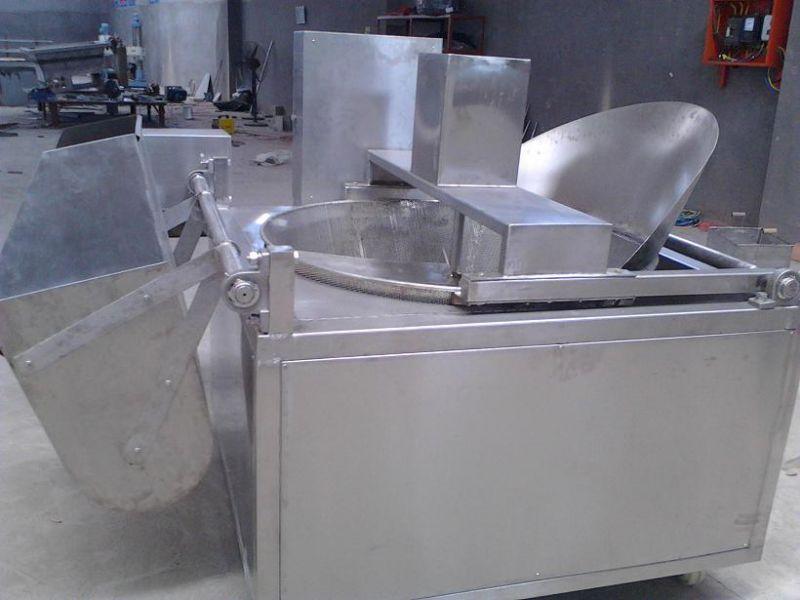 我们专业生产笋丝电加热自动控温油炸流水线、精品推荐芙蓉果上浆上粉成套线