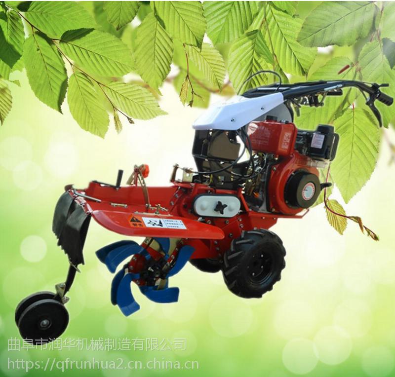 西瓜开沟培土机 农用小型微耕机 9马力大功率苗圃除草机