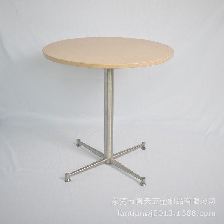 优质四脚不锈钢餐桌台脚/不锈钢折叠桌桌腿 餐厅家具配件图片
