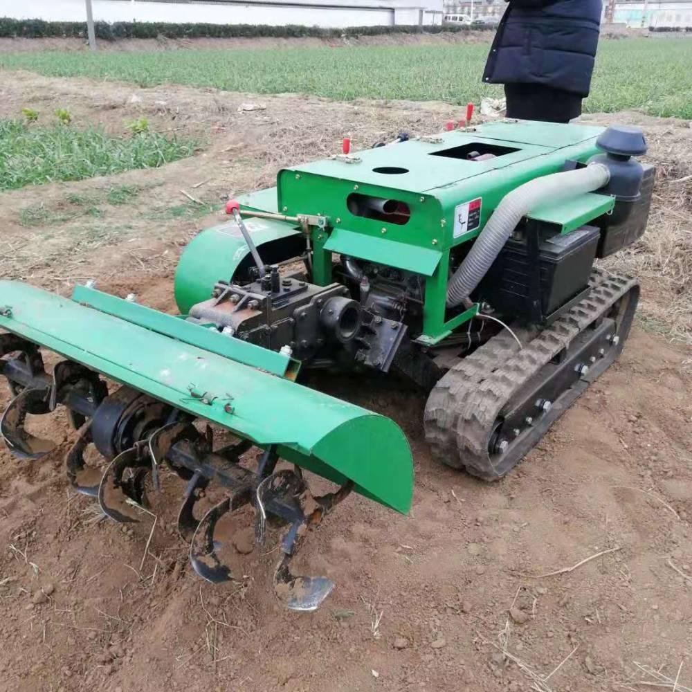 爬坡果园松土开沟除草机 富兴自走式好转弯果园施肥回填机厂家