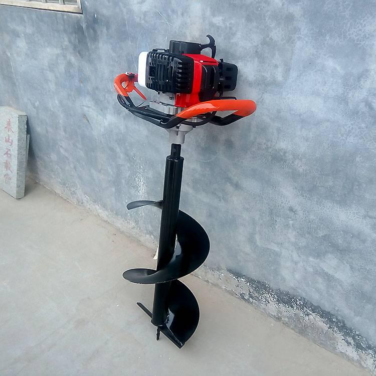 汽油动力果园栽树挖坑机 便携式立柱打洞机 手提式汽油挖坑机