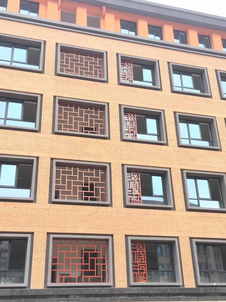 工程专用木纹铝窗花 古铜色仿古铝窗花