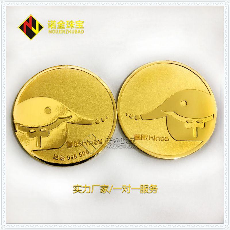 深圳诺金珠宝银质纪念章 金属纪念币铂金礼品定制厂家