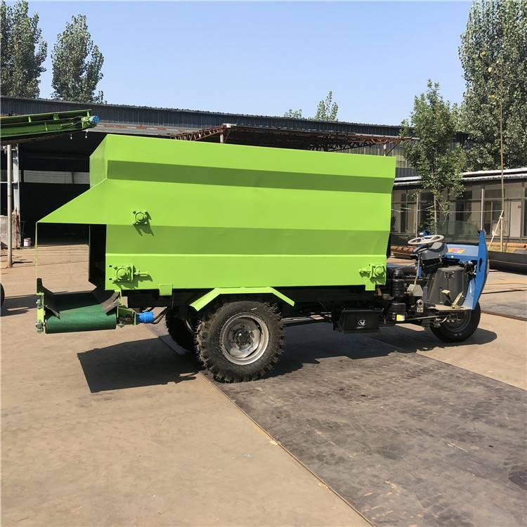 档位可调羊场喂料车 大容量柴油抛料车 撒料车可定做