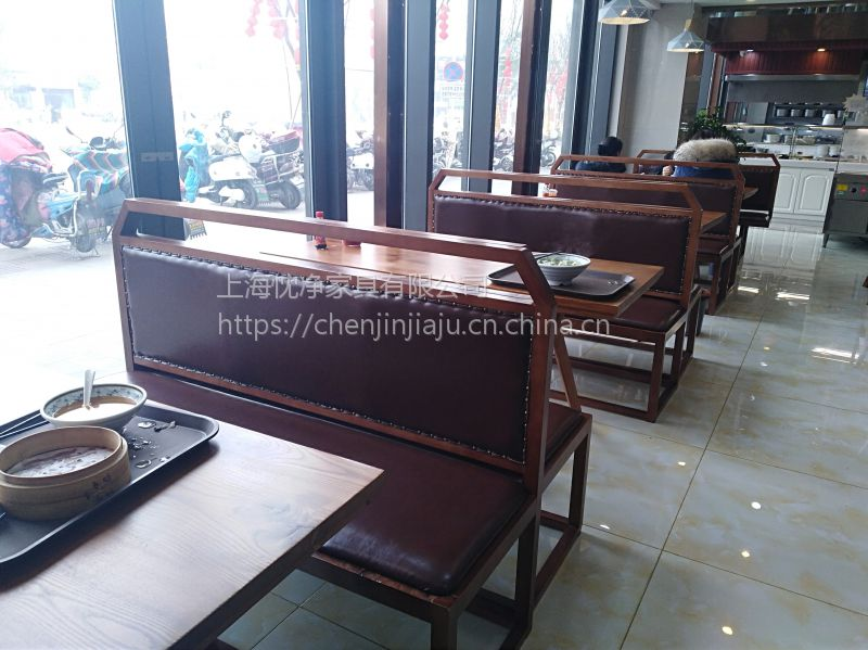 上海荼餐厅桌椅,现代中式快餐店西餐厅桌椅组合定制