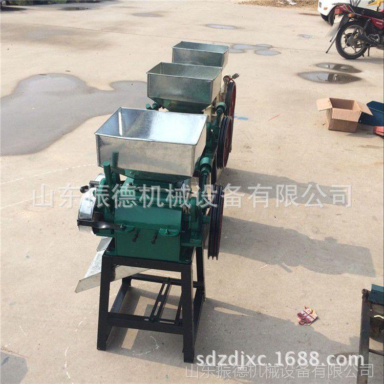 新款燕麦片挤扁机 小型高效率豆扁机  机对辊式黄豆挤扁机 振德