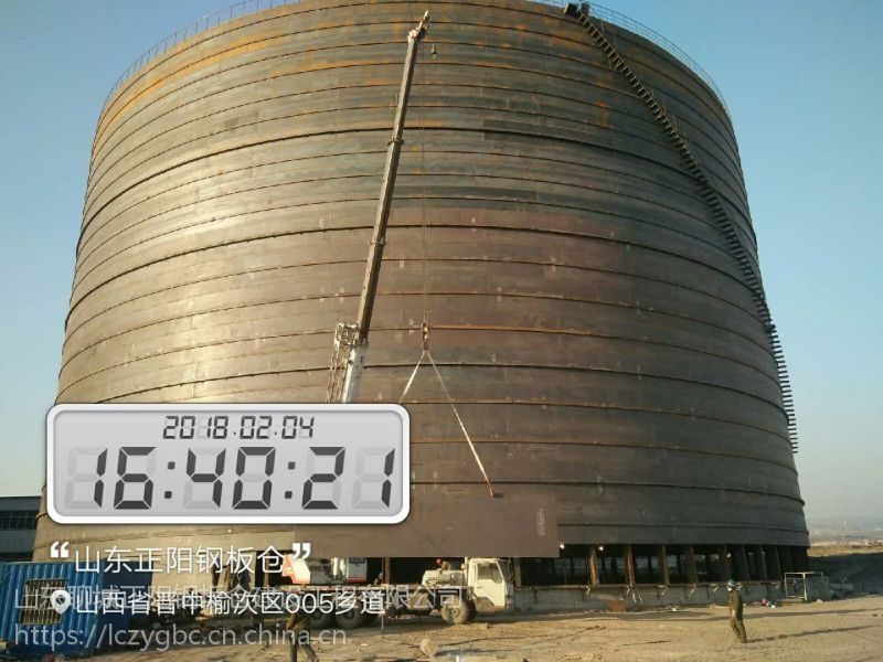 广西正阳钢板仓专业设计安装大型钢板仓 大型粉煤灰储存库 大型水泥储存库