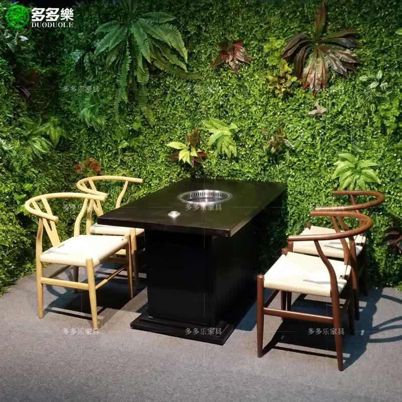 贵州水城滋味烧烤店桌椅生产厂家 贵州韩式自助烧烤家具定做