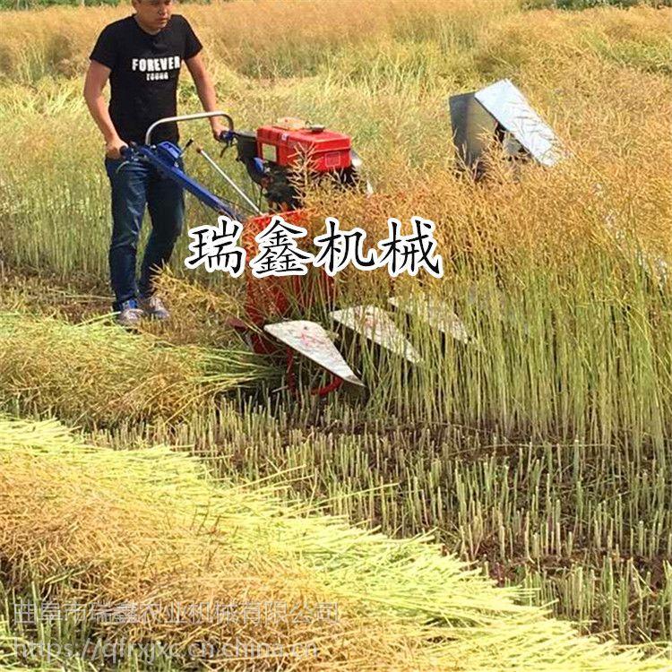 多功能手推式割晒机 牧草油菜收割机 大豆收割机