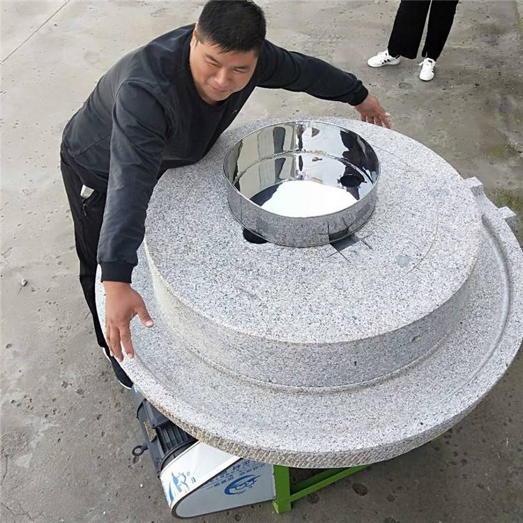 信达批发小型家用豆浆米浆专用石磨 天然环保绿色健康电动石磨机