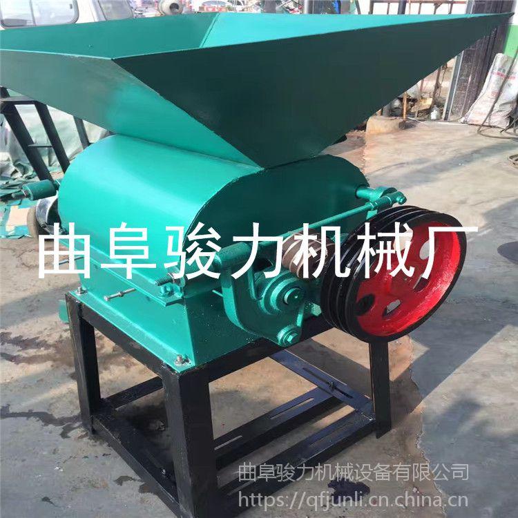 现货供应 电动花生米破碎机 粮食加工轧碎机 花生米轧成掰机械 骏力