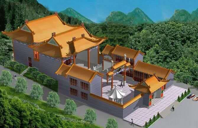 古建祠堂设计,仿古农村宗祠,祖堂设计施工