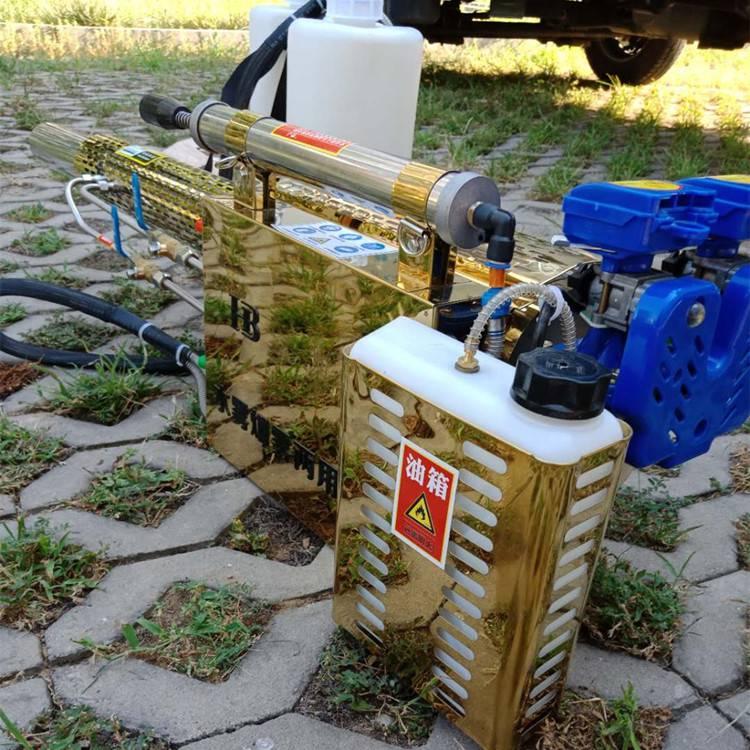 大棚专用杀虫烟雾机 汽油大功率弥雾机图片 背负式消毒杀虫单管打药机