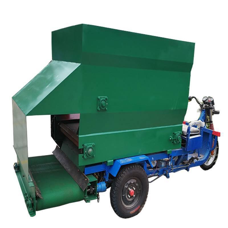 热销电动养殖喂料车 全自动养猪撒料车 撒料过程简单