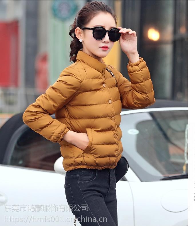 2018女装韩版羽绒服批发韩版尾货羽绒服低价女式外套供应工厂直销货源批发处理