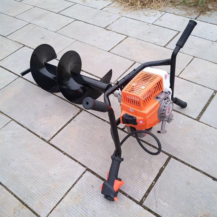 直销汽油钻洞机农用施肥打眼机二冲程手提小型挖坑机