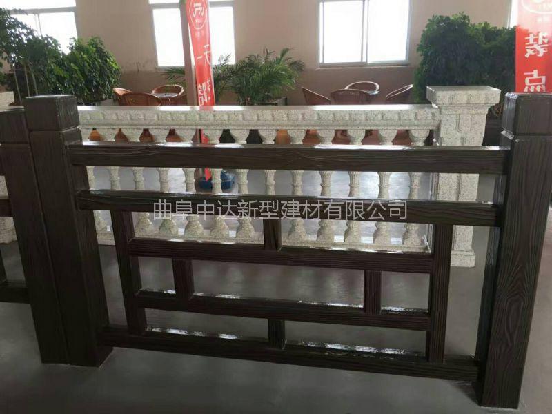 济宁市河道水泥仿木栏杆 混凝土栏杆 仿木栏杆价格 水泥景观护栏
