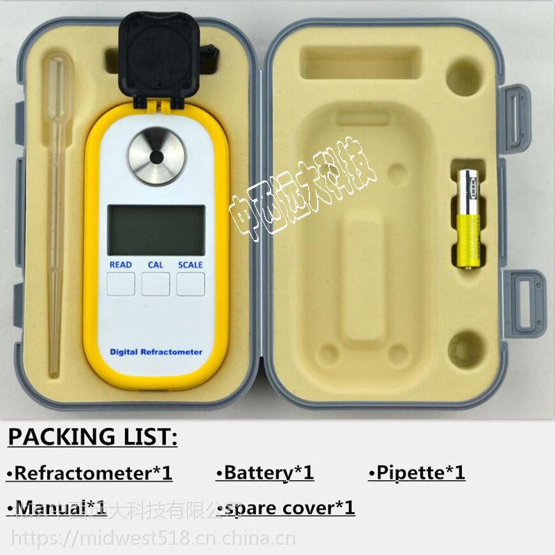 中西 数显蜂蜜折光仪库号:M405726(中西器材) 型号:DR301
