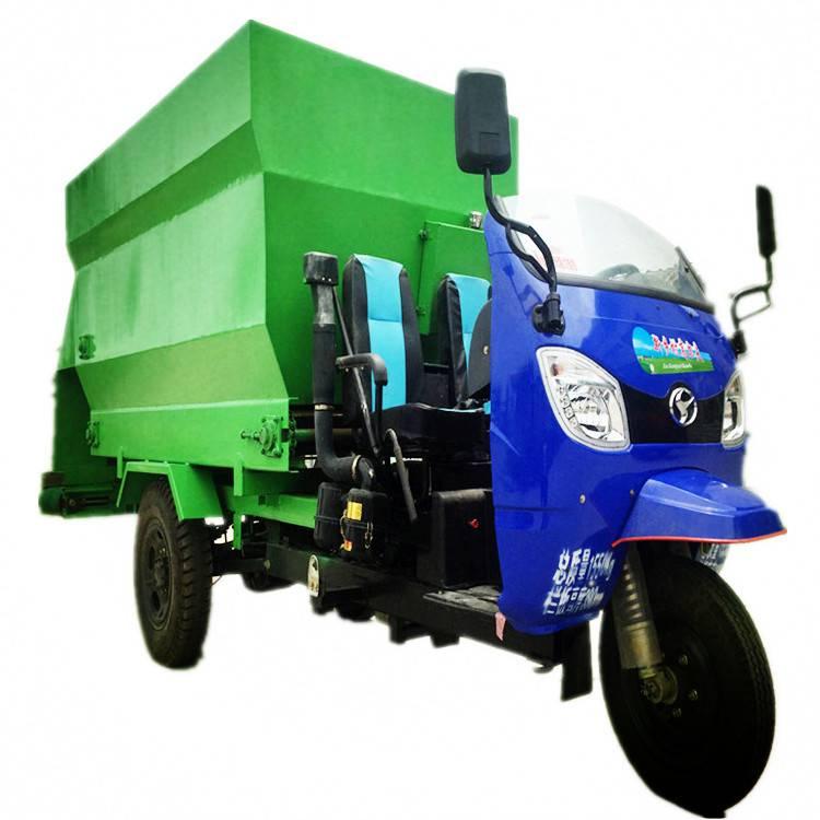 自动电车卸料车 润丰 电动车青贮撒料车