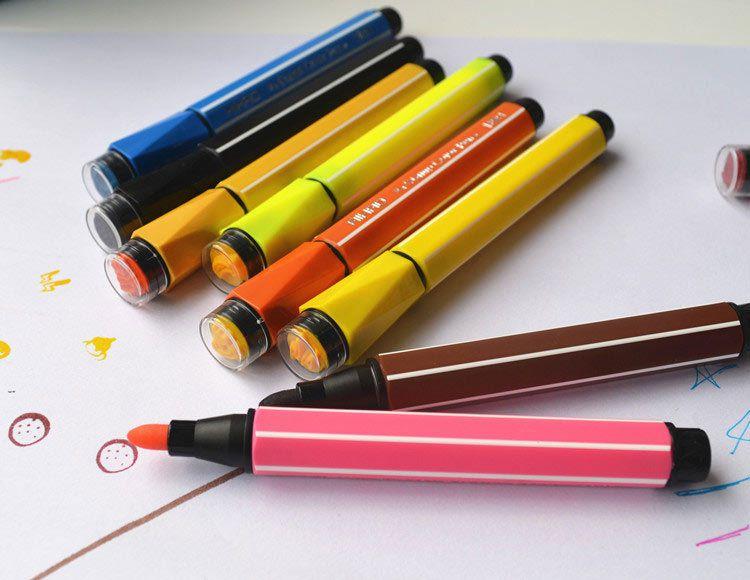 爱好【正品优惠】儿童美术用品24色可水洗印章水彩笔套装批发1881图片