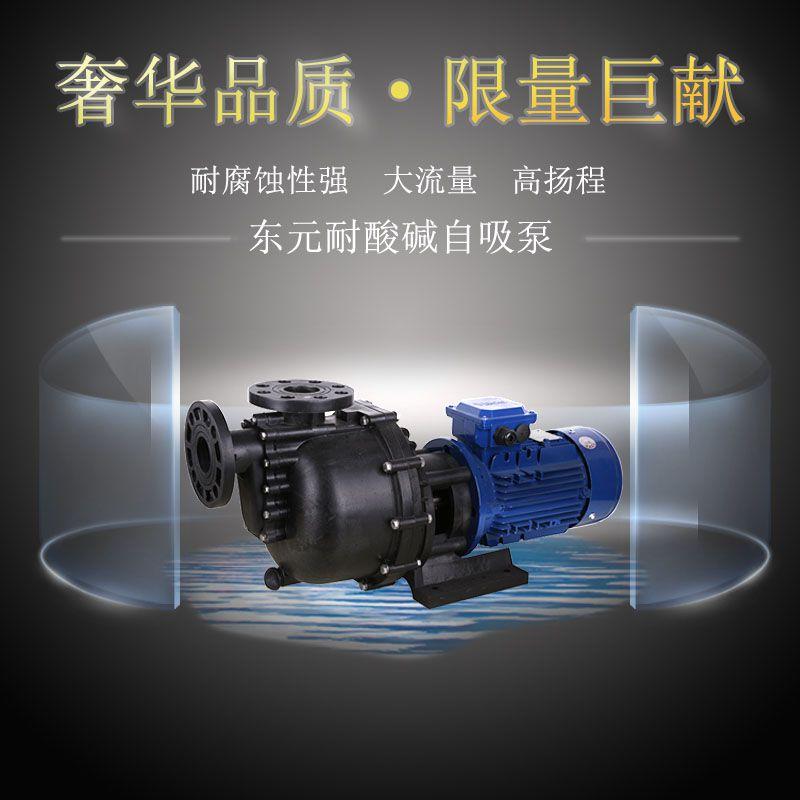 聚四氟自吸泵供应商,东元牌浓硝酸聚四氟自吸泵,货期快