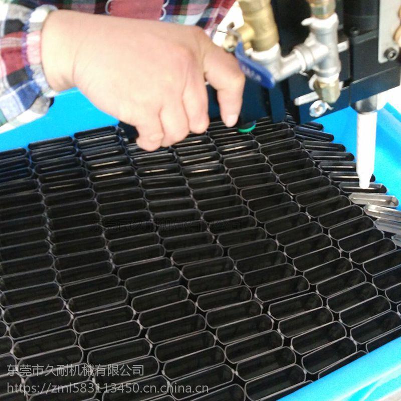 久耐机械双组份环氧树脂自动配胶机 工业刷子毛刷环氧树脂自动灌胶机