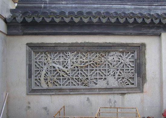古艺古建砖雕壁画私家别墅中式古建雕塑仿古摆件背景墙苏州人物泥塑雕刻