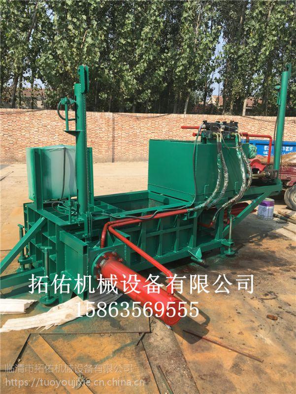 2017山东卧式青贮秸秆打包机玉米芯压块机适用于各种农作物 厂家直销欢迎咨询