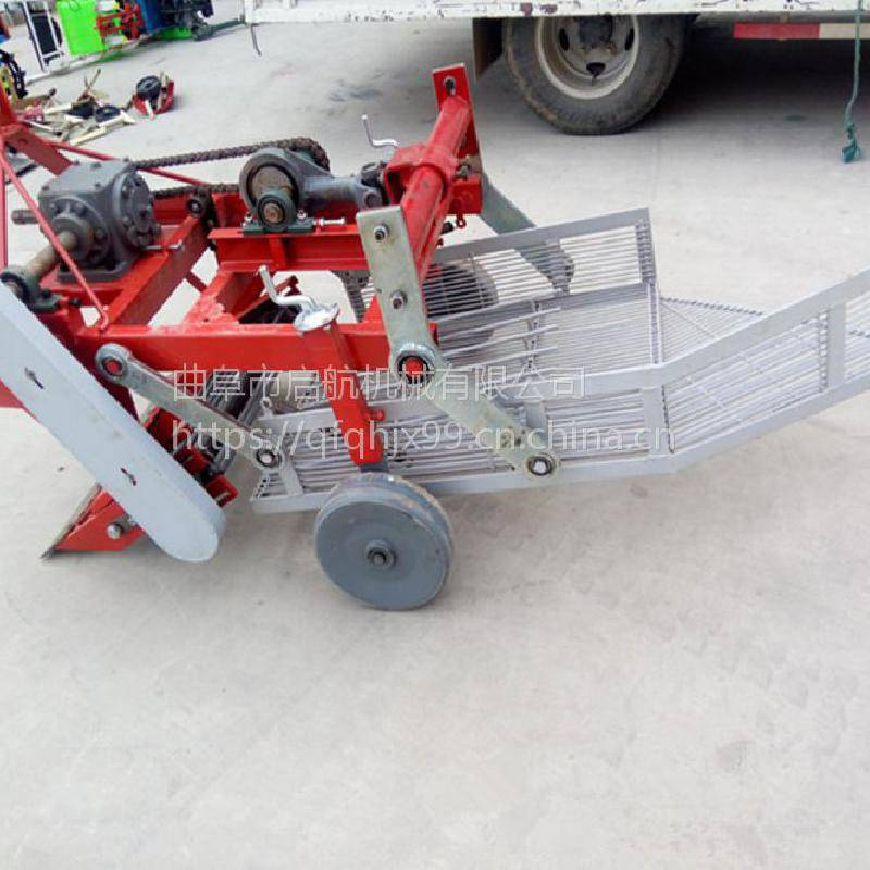 启航链条式收割机 起垄果子起果机 挖花生起花生机器