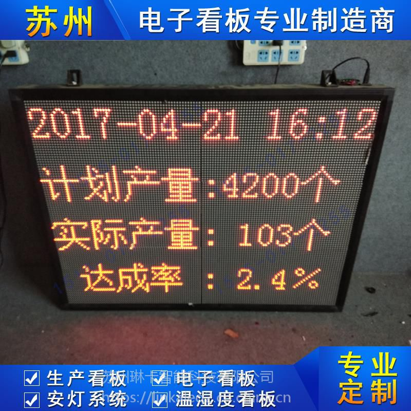 工厂车间生产看板计划产量达成率电子看板壁挂式生产线流水线LED显示屏