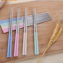 名瑞厂家供应环保小麦筷子 耐高温防霉筷子 304不锈钢筷子