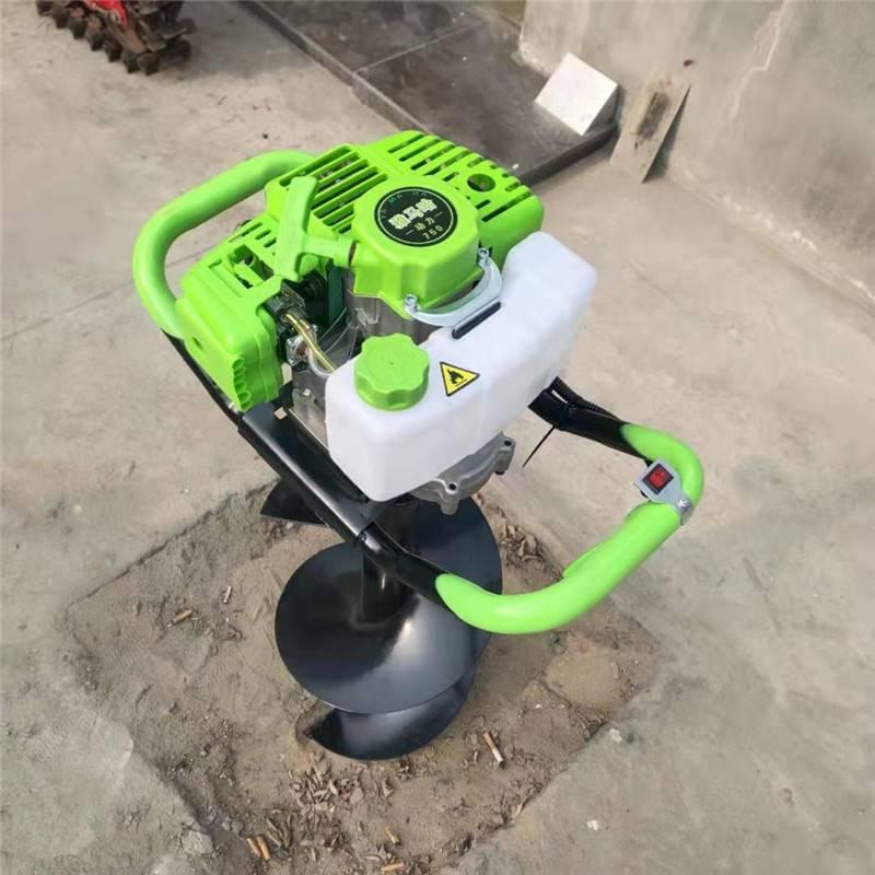 手提式两冲程汽油打眼机 启航牌植树专用挖坑机 大棚立柱用挖坑机