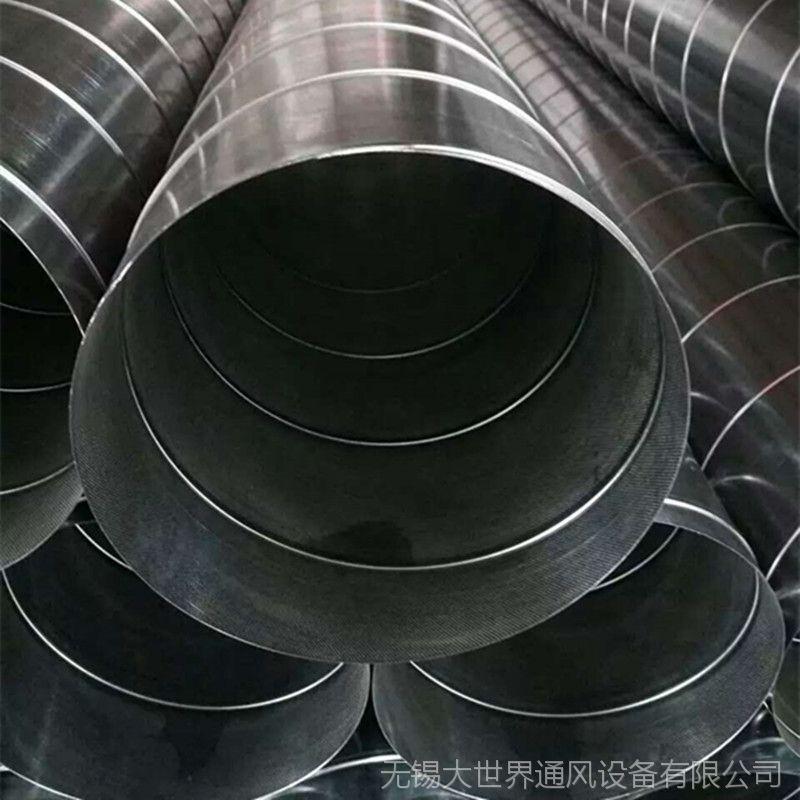 通风管道厂家定制304不锈钢螺旋管 承接酒店厨房排油烟工程