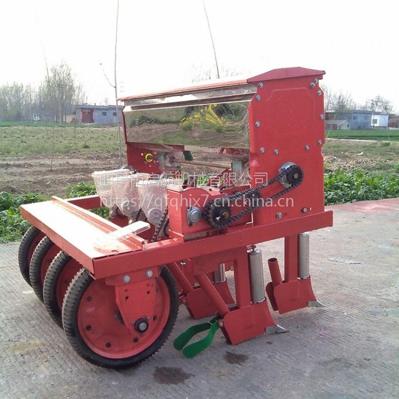 双鸭山小型油菜种子播种机 手推汽油精播机 启航谷子播种机价格