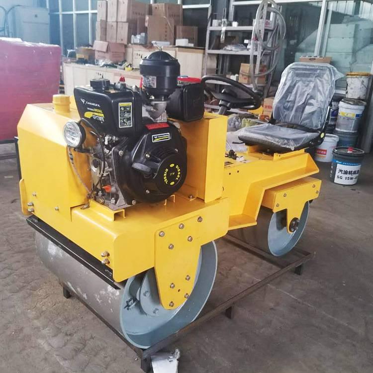 座驾压路机 驾驶式压土机 小型双轮压路机