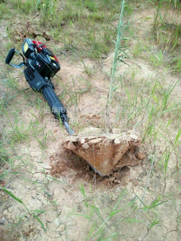 林业合金链条起树机 富兴树木苗木移栽断根机 多功能移苗机哪里有卖