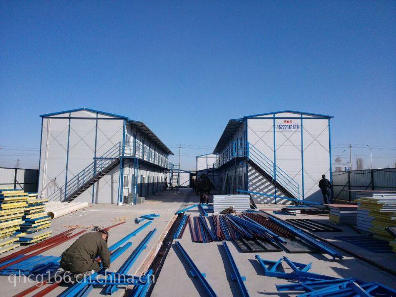 低价焊接式防风北京顺义彩钢房 工地用通州彩钢房 祈虹彩钢板房
