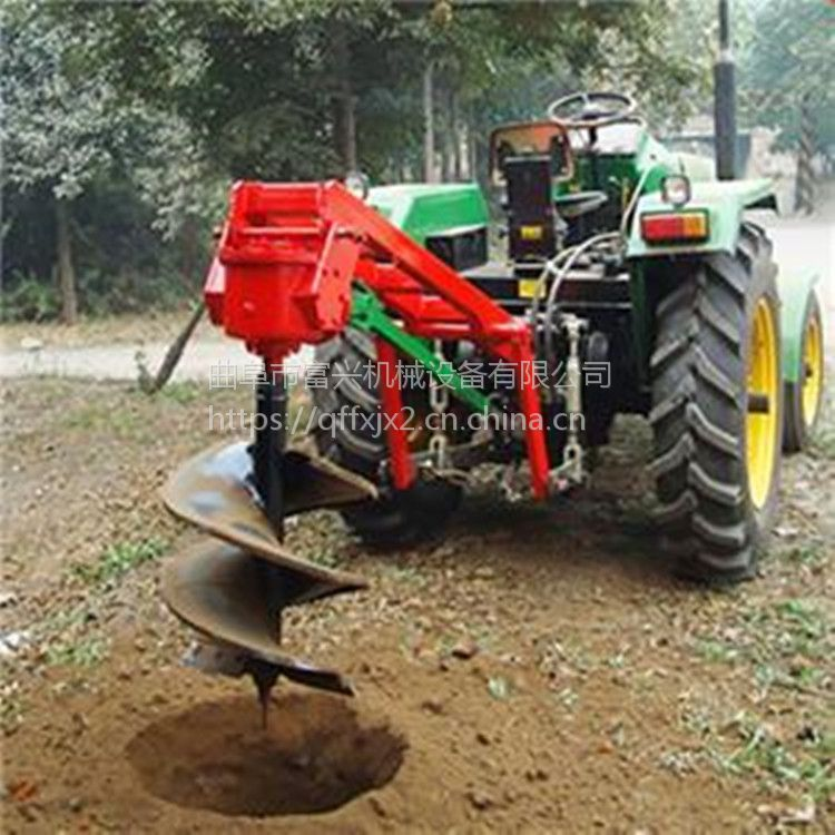 绿化带植树挖坑机 单人便携式挖洞机 双人手提打眼机视频