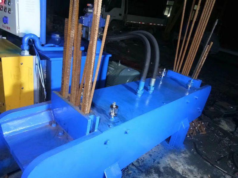 液压扁铁钢筋切断机工作视频 根据客户要求定做液压切粒机 金属废料鳄鱼剪