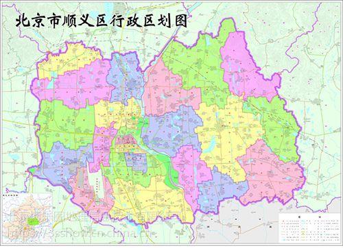 北京市各区县行政区划地图制作定制安装图片