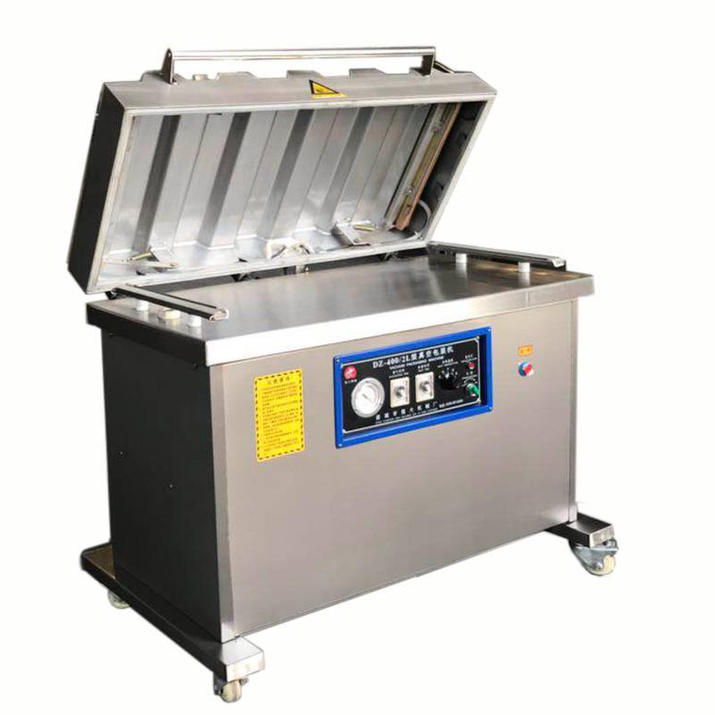 诸城强大机械厂家直销强大600L凤爪真空双室食品塑料包装机