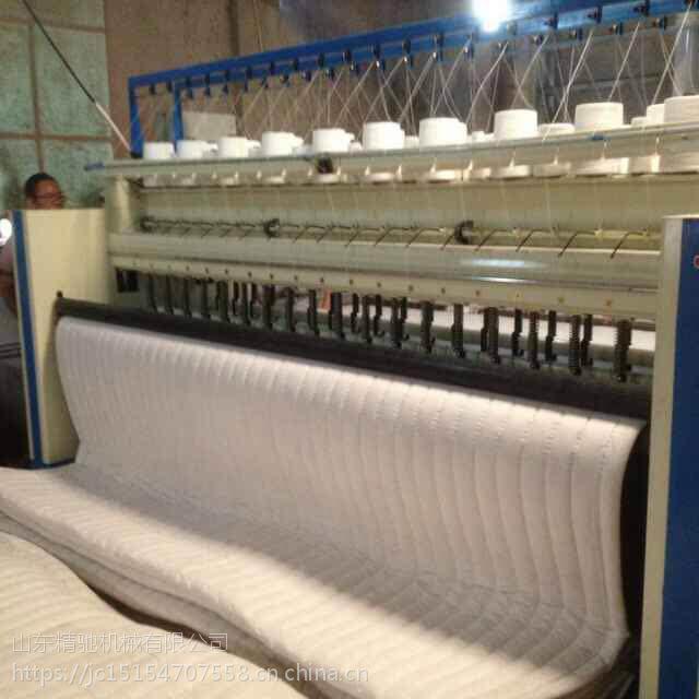 防火棉门帘加工设备 新型电动双排针绗缝机