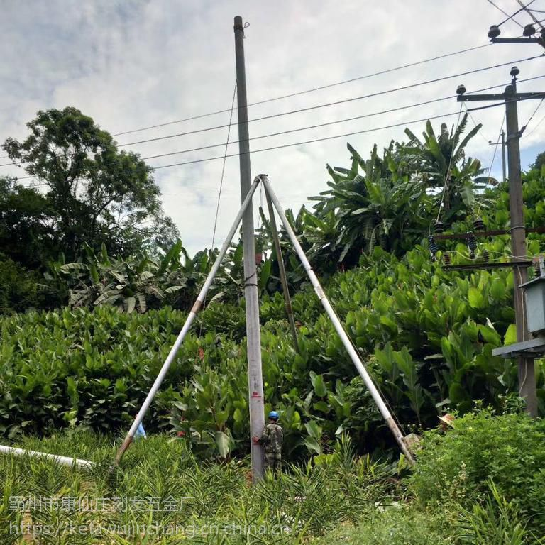 厂家直销【刻发】三角拔杆机 水泥杆立杆机 铝合金三角架 人字抱杆起杆器