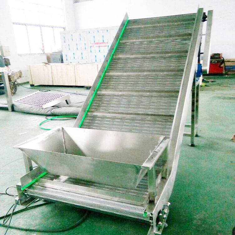冲孔链板爬坡输送机 自动化输送设备 果蔬清洗晾干传送机 德隆非标定制 流水线工作台