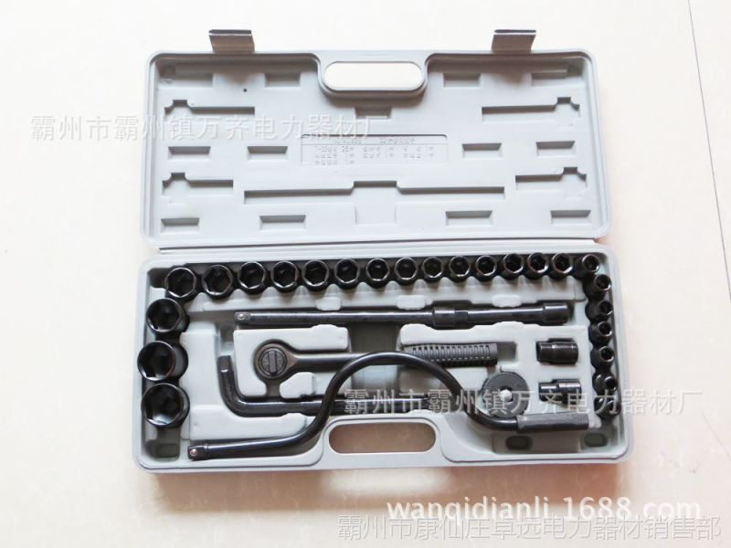 组合五金工具箱套装套筒头汽车五金工具箱装棘轮快速套筒扳手