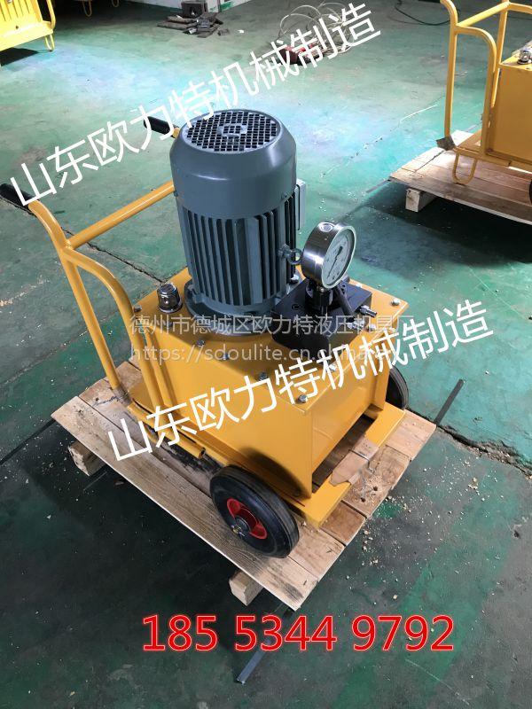甘肃庆阳欧力特大型矿山劈裂机专利产品畅销国内外