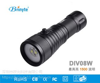 厂家直销 DIV08W双光源补光手电筒 潜水摄影补光手电筒充电 爆款