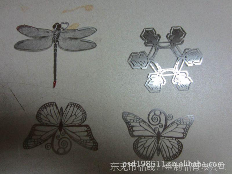 东莞蚀刻蜻蜓工艺品礼品加工  , 铝腐蚀加工  ,金属蝴蝶蚀刻