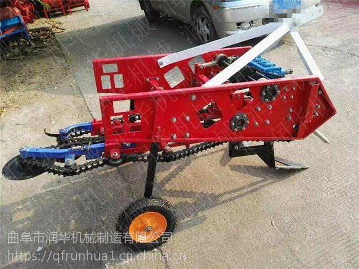 多功能花生收获机 手扶车带大蒜收获机 地豆子挖掘机
